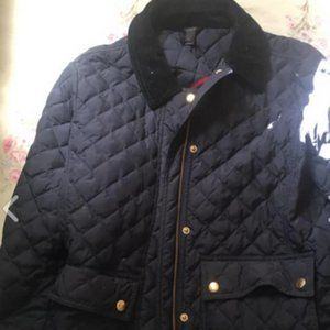 J Crew Navy Quilted Jacket